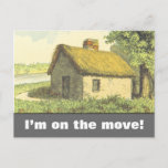 [ Thumbnail: Rustic and Nature-Inspired New-House Postcard ]