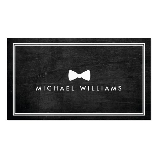Rustic and Refined Men's Classic Bow Tie Logo Business Card Template