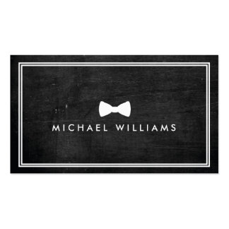 Rustic and Refined Men's Classic Bow Tie Logo Double-Sided Standard Business Cards (Pack Of 100)