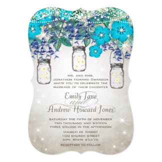 Rustic and Romantic Mason Jar Under the Stars Card