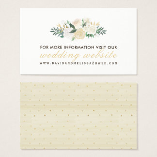 Rustic and Romantic Woodland Wedding Website Cards