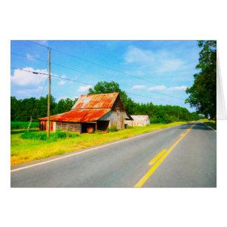 Rustic And Rural In Georgia - Farming Landscape Card