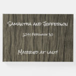 [ Thumbnail: Rustic and Simple Wedding/Marriage Guestbook ]