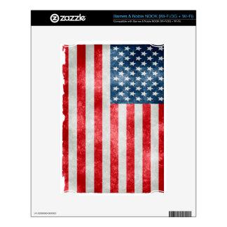 Rustic And Vintage Us Flag NOOK Decals