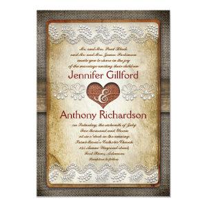 rustic and vintage wedding invitations
