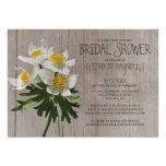 Rustic Anemone Bridal Shower Invitations Announcement