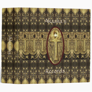 Rustic Ankh Key of Life Book of Shadows 3 Ring Binder
