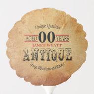 Rustic Antique 00th Birthday Balloon