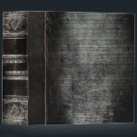 """Rustic Antique Ancient Tome Faux Black Leather 3 Ring Binder<br><div class=""""desc"""">Ornate scrollwork,  weathered detail,  and faux aged leather enriched with a beautiful cracked texture create a truly authentic looking &#39;ancient tome&#39; disguise for this trendy three-ring binder.</div>"""