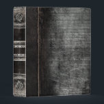 """Rustic Antique Ancient Tome Faux Black Leather Mini Binder<br><div class=""""desc"""">Ornate scrollwork,  weathered detail,  and faux aged leather enriched with a beautiful cracked texture create a truly authentic looking &#39;ancient tome&#39; disguise for this trendy three-ring binder.</div>"""