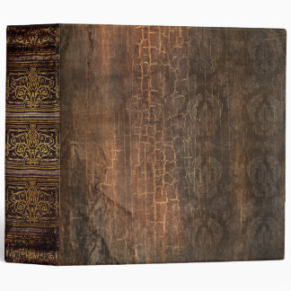 Rustic Antique Ancient Tome Faux Brown 3 Ring Binder