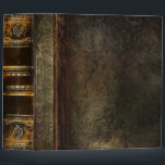 "Rustic Antique Ancient Tome Faux Brown Leather 3 Ring Binder<br><div class=""desc"">Ornate scrollwork,  weathered floral detail,  and faux aged leather enriched with a beautiful cracked texture create a truly authentic looking"