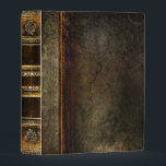 """Rustic Antique Ancient Tome Faux Brown Leather Mini Binder<br><div class=""""desc"""">Ornate scrollwork,  weathered floral detail,  and faux aged leather enriched with a beautiful cracked texture create a truly authentic looking &#39;ancient tome&#39; disguise for this trendy three-ring binder.</div>"""