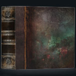 """Rustic Antique Ancient Tome Faux Leather 3 Ring Binder<br><div class=""""desc"""">Ornate scrollwork,  weathered decay detail,  and faux aged leather enriched with a beautiful cracked texture create a truly authentic looking &#39;ancient tome&#39; disguise for this trendy three-ring binder.</div>"""