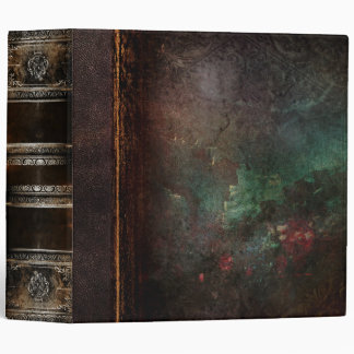 Rustic Antique Ancient Tome Faux Leather 3 Ring Binder