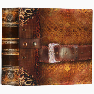 Rustic Antique Ancient Tome Faux Leather Binder