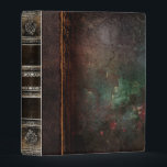 """Rustic Antique Ancient Tome Faux Leather Mini Binder<br><div class=""""desc"""">Ornate scrollwork,  weathered decay detail,  and faux aged leather enriched with a beautiful cracked texture create a truly authentic looking &#39;ancient tome&#39; disguise for this trendy three-ring binder.</div>"""
