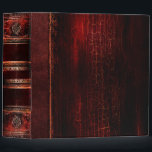 """Rustic Antique Ancient Tome Faux Red Leather Binder<br><div class=""""desc"""">Ornate scrollwork,  weathered detail,  and faux aged leather enriched with a beautiful cracked texture create a truly authentic looking &#39;ancient tome&#39; disguise for this trendy three-ring binder.</div>"""