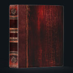 """Rustic Antique Ancient Tome Faux Red Leather Mini Binder<br><div class=""""desc"""">Ornate scrollwork,  weathered detail,  and faux aged leather enriched with a beautiful cracked texture create a truly authentic looking &#39;ancient tome&#39; disguise for this trendy three-ring binder.</div>"""
