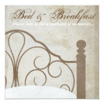 Rustic Antique Bed and Breakfast Invitations