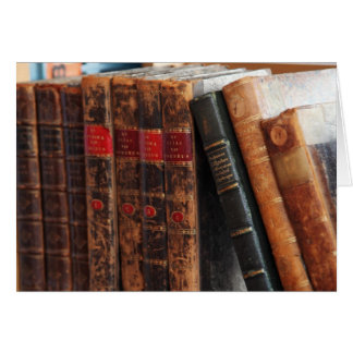 Rustic Antique Books Library Shelf Blank Notecards Stationery Note Card