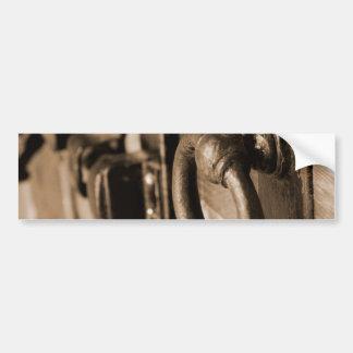 Rustic Antique Door Handle Pull and Latch Sepia Bumper Sticker