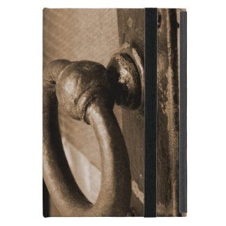 Rustic Antique Door Handle Pull and Latch Sepia Cases For iPad Mini