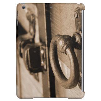 Rustic Antique Door Handle Pull and Latch Sepia iPad Air Cases