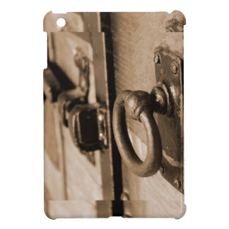 Rustic Antique Door Handle Pull and Latch Sepia iPad Mini Covers