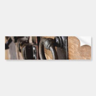 Rustic Antique Door Pull and Latch Bumper Sticker