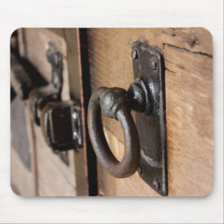 Rustic Antique Door Pull and Latch Mousepad