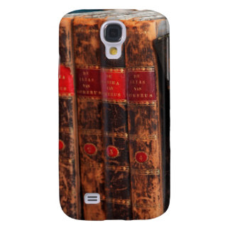 Rustic Antique Library Books Shelf Galaxy S4 Case