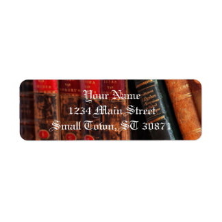 Rustic Antique Library Books Shelf Label