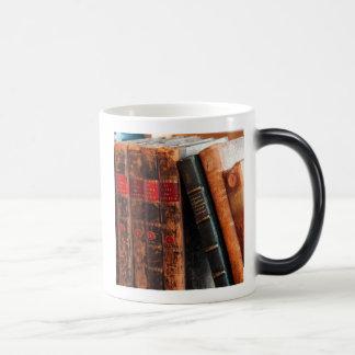 Rustic Antique Library Books Shelf 11 Oz Magic Heat Color-Changing Coffee Mug