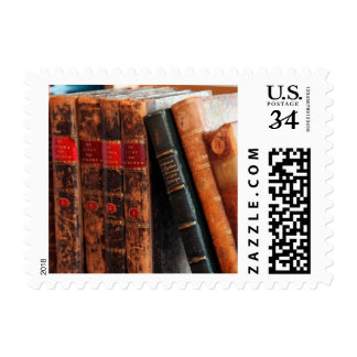 Rustic Antique Library Books Shelf Postage