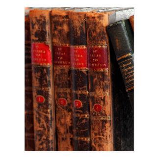 Rustic Antique Library Books Shelf Postcard
