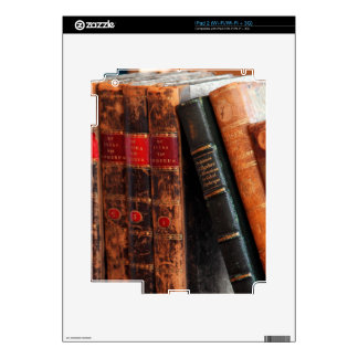 Rustic Antique Library Books Shelf iPad 2 Decals