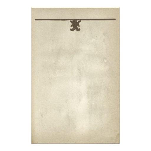 Antique Scroll Paper: Rustic Antique Paper Decorative Scroll Stationery