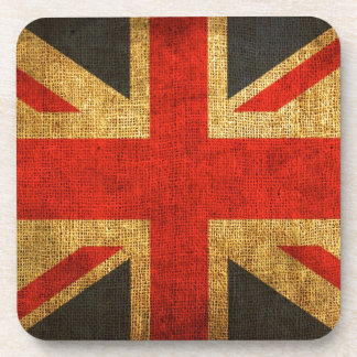 Rustic Antique Union Jack Pattern Coaster