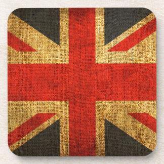 Rustic Antique Union Jack Pattern Coaster