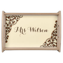 rustic antique vintage style personalized tray