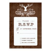 Rustic Antler, Deer Winter Woodland  rsvp 3.5 x 5 Card