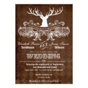 Rustic Antler winter woodland wedding invites by mgdezigns