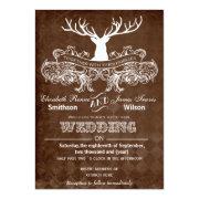 Rustic Antler, Deer Winter Woodland wedding invites by mgdezigns