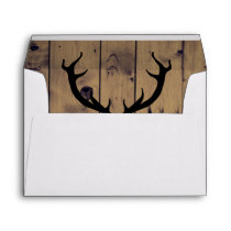 Rustic Antlers 5x7 Wedding Envelope