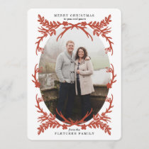 Rustic Antlers Christmas Photo Card