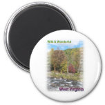 Rustic Appalachian River 2 Inch Round Magnet