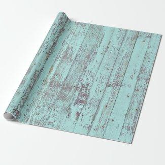 Rustic Aqua Barn Wood