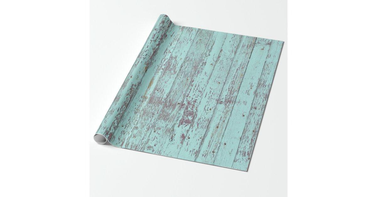 Rustic Aqua Barn Wood Wrapping Paper Zazzle Com