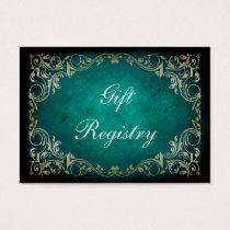 rustic aqua regal Gift registry  Cards